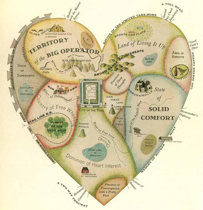 mapa del corazón |